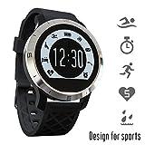 Raffia F69 Smartwatch sportive Bluetooth impermeabile IP68 nuoto monitor del ritmo cardiaco rastreador periodi di sonno Contapassi Orologio da polso per iOS Smartphone Android Nero