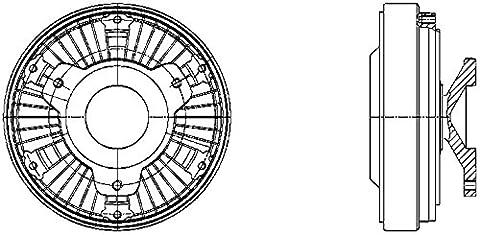Hella 8MV 376 730-061 Clutch, Cooling Fan