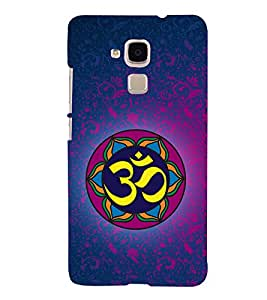 Om Mantra 3D Hard Polycarbonate Designer Back Case Cover for Huawei Honor 5C : Huawei Honor 7 Lite : Huawei GT3