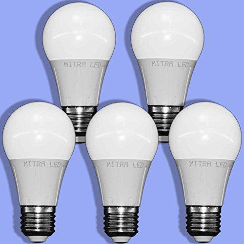 E27 Led warmweiss ca. 60 Watt Glühbirne Ersatz 650 Lumen 7 Watt Tropfen Energiesparlampe mini MITRA LED 5er Pack LED Lampe warmweiß A60 (7) -