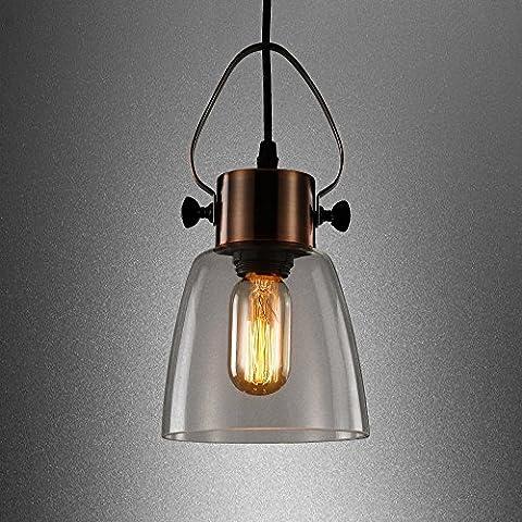 FOSHAN MINGZE 1 Glass Pendant Ceiling Light 50W Vintage Industrial