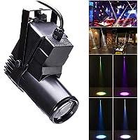 UKing Luz de Escenario LED, 30W RGBW Sonido Activo DMX512 Controlar ABS Destacar para Decoración del Hogar DJ Disco Club Bar KTV Fiesta Navidad (negro)