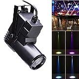 U'King Bühnenlicht LED, 30W RGBW Sound-active/DMX512 Steuerung ABS Scheinwerfer für Home Decor DJ Disco Club Bar KTV Party Weihnachten (black)