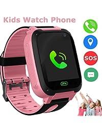 Kids Smart Watch Phone, Reloj Inteligente LBS/GPS Tracker para Niños de 3-12 Años de Edad, Juegos de Smartwatch, Actividades,Juguetes, cumpleaños, Regalo de Chrismas (Rosa)