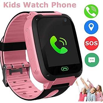 bhdlovely Reloj para Niños Smartwatch LBS / GPS Tracker para Niños y Niñas Juego de Pantalla