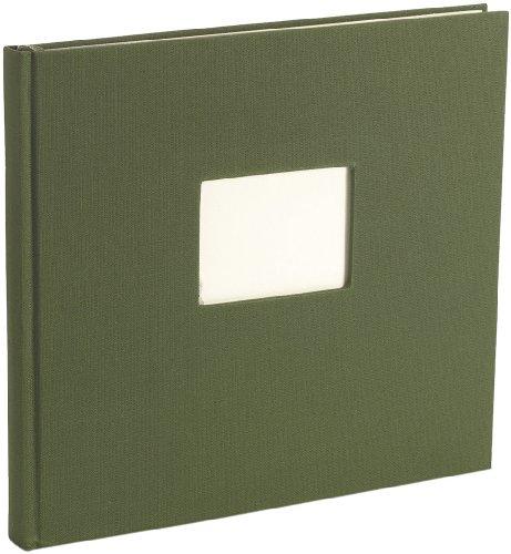 Semikolon (353532) Gästebuch mit 240 blanko Seiten irish (dunkel-grün)   Gäste-Buch mit Buchleinenbezug   Fenster für Bild u. Titel im Buch-Deckel