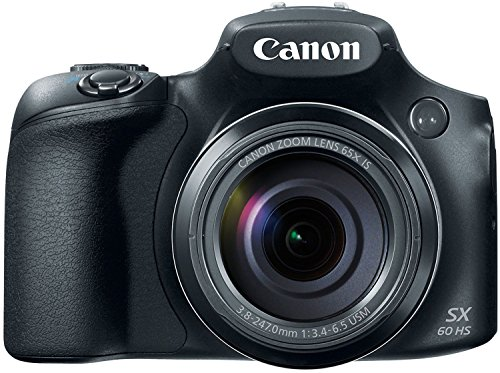 Canon PowerShot SX60 HS 65X Optical Zoom (Black)