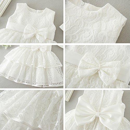 AHAHA Baby Mädchen Prinzessin Kleid Blumenmädchenkleid Taufkleid Festlich Kleid Hochzeit Partykleid Festzug Babybekleidung - 6