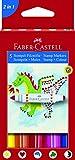 Faber-Castell A.W. 155175 - Stempel-Filzstifte, 5 Stück im Etui