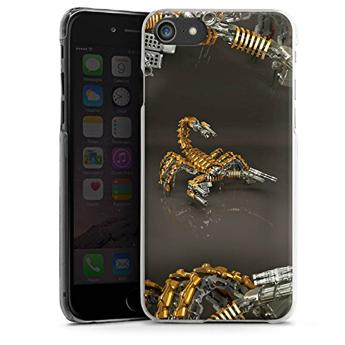 Apple iPhone X Silikon Hülle Case Schutzhülle Skorpion Gold Scorpion Hard Case transparent