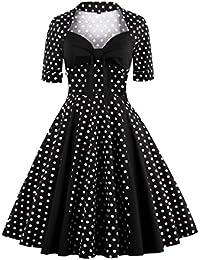 Dissa M1366 DamenRockabilly 50er Vintage Retro Kleid Partykleider Cocktailkleider
