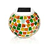 Solar Powered Ceramic Light, KASIMO LED Solar Decorative Light, Waterproof & Color change LED Solar light for Outdoor Indoor, Home Garden Patio Yard Party Table Ground (mosaik)