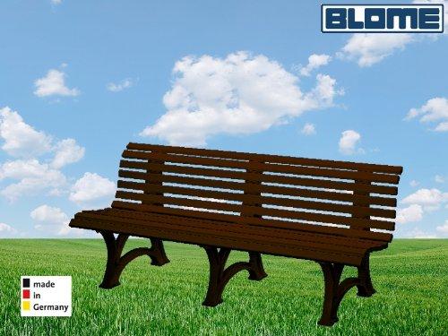 Parkbank Borkum braun Blome 4-Sitzer