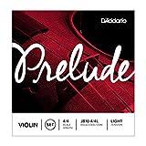 D'Addario J810-4/4L Prelude Violinen Saitensatz Kohlefaserstahl/Nickel 4/4 Light
