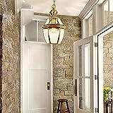 EI Guo Home Vintage Kronleuchter Kreative Beleuchtung Persönlichkeit Restaurant Schlafzimmer Wohnzimmer Lampe Kupfer Kleine Gang Balkon Garderobe Jane Europa Korridor 20 * 30 cm Test