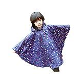 4eba3376c6 Dingcaiyi niños con Capucha Azul Estrellas Capa del Poncho de Lluvia  Impermeable a Prueba de Agua