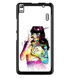 PRINTSWAG GIRL ART Designer Back Cover Case for LENNOVO A7000