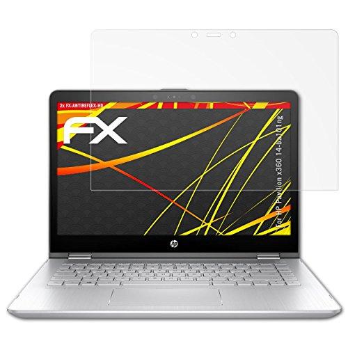 atFolix Schutzfolie kompatibel mit HP Pavilion x360 14-ba101ng Bildschirmschutzfolie, HD-Entspiegelung FX Folie (2X)