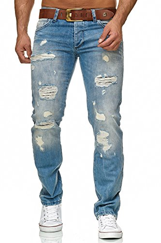 Redbridge, da uomo, pantalone jeans a taglio dritto, strappato, stile light wash blau 46 it (32w/34l)