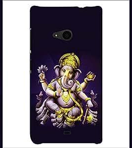 PRINTSHOPPII LORD GANESHA Back Case Cover for Nokia Lumia 535::Microsoft Lumia 535