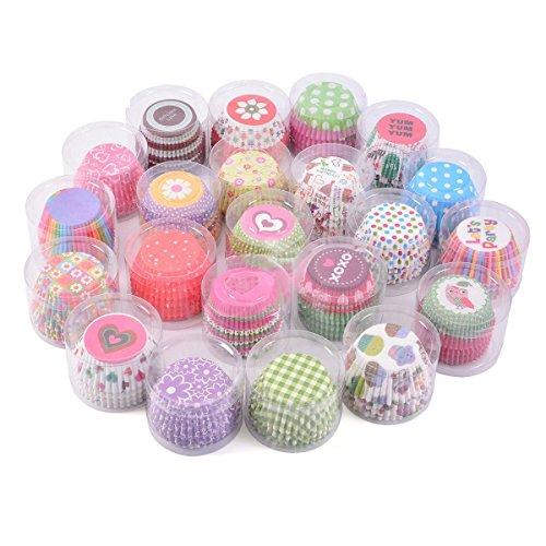 TININNA 100 Stück Bunt Papier Cupcake Muffinform Papierforrmchen Muffin Cases Papierkuchen Liner Tasse