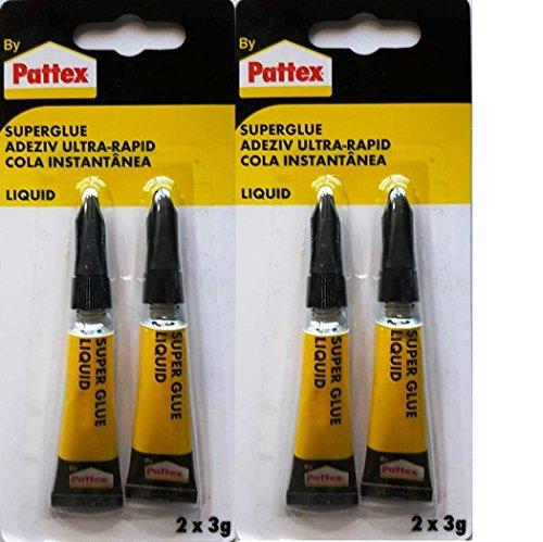 Pattex Sekundenkleber 2 x 3g flüssig liquid (4 x 3 g)