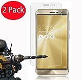 2 Pack - Asus Zenfone 3 ZE552KL Verre Trempé, Vitre Protection Film de protecteur d'écran Glass Film Tempered Glass Screen Protector Pour Asus Zenfone 3 ZE552KL (5.5')