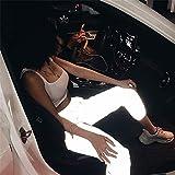 Hunpta@ Frauen Sport Leuchtend Jogginghose Hohe Taille Nachtlicht Leuchtende Sporthose Elastisches cool Leggings Lose Beiläufige Lange Hosen beiläufige Sport-Strumpfhosen (L)