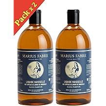 Marius Fabre - Liquide Vaisselle Sans Parfum aux Copeaux de Savon de Marseille - 2 x 1 L