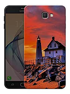 """Humor Gang lighthouse scenery Printed Designer Mobile Back Cover For """"Samsung Galaxy J7 Prime"""" (3D, Matte Finish, Premium Quality, Protective Snap On Slim Hard Phone Case, Multi Color)"""