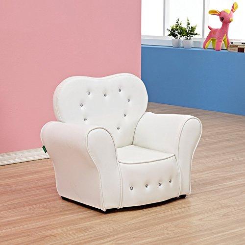Duo tavolo per computer telaio per bambini in legno con divano per bambini durevole (colore : bianca)