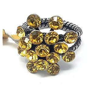 KONPLOTT Magic Fireball Damen-Ring, Ringgröße verstellbar, Glas gelb-topaz -5450527640633