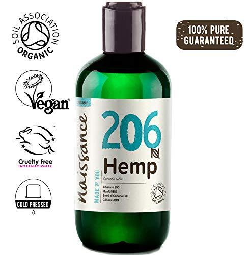 Naissance Hanfsamenöl BIO (Nr. 206) 250ml - nativ, kaltgepresst, 100% rein - vegan und tierversuchsfrei - reich an Omega-3 und Omega-6 -