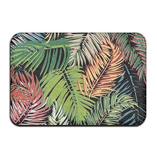 dfegyfr Oasis Tropical DE Color Tema Antideslizante Estera de la Puerta Decoración para el hogar Entrada Exterior Exterior Tapete de Goma 23.6 X 15.7 Pulgadas