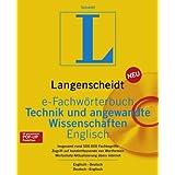 Langenscheidt e-Fachwörterbuch Technik und angewandte Wissenschaften Englisch, 1 CD-ROM Englisch-Deutsch, Deutsch-Englisch. Für Windows 95/98/2000/XP/NT 4.0. Rund 500.000 Fachbegriffe. Zugriff auf hunderttausende von Wortformen. Wortschatz-Aktualisierung übers Internet