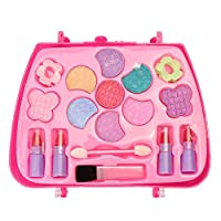 Whiie891203 Puzzle IQ Game Educational Toys,Kids Girls Makeup Set Eco-friendly Cosmetic Pretend Play Kit Princess Toy for Kids Birthday Choice