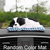 #5: Meet the world Car Ornament Lovely Plush Dog Automotive Interior Decoration Sleeping Puppy Toy Ornaments Cute Automobile Dashboard Accessories