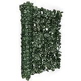 Blumfeldt Fency Dark Ivy - Clôture brise-vue en imitation lierre de 300x150 cm pour balcon, terrasse, jardin - vert foncé