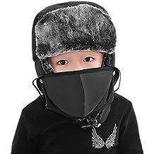 Enfant Chapka Ski Snowboard Hiver Bonnet de Russe en Faux Fourrure Chapeau  de plein air Epais 8238e9bd69e