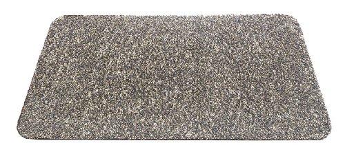 HT F & S Premium Fußmatte Aqua-Stop 60x100 cm robust und maschinenwaschbar bei 30 Grad Farbe: Granit. Made in Europe
