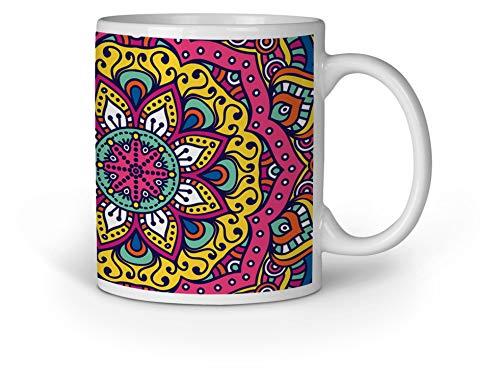 Loomiloo Tasse Tassen Kaffeebecher Kaffeetasse Mandala Tattoo Flowers
