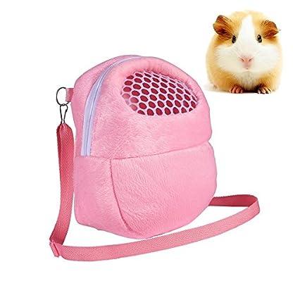 Yosoo 1 PCS White Mesh Portable African Hedgehog Hamster Breathable Pet dog Carrier Bags Handbags Puppy Cat Travel… 1