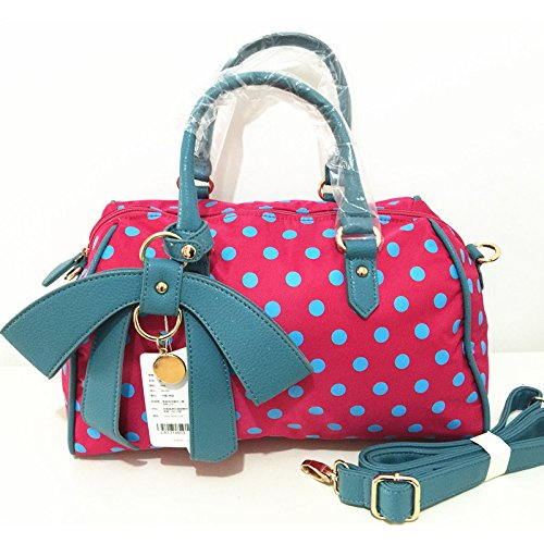 ZYT Polka Dot Mode Damen Tasche Handtasche Messenger Tasche Nylon wasserdicht Mummy bag c