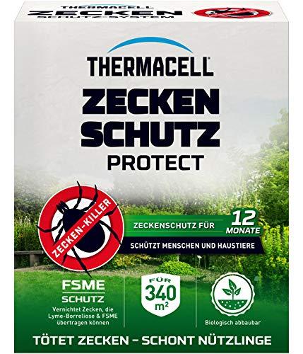 Thermacell Zeckenschutz Protect, Zeckenröhren innovativer Schutz vor Zecken im eigenen Garten, 8 Rollen für 340m² Fläche, Mehrfarbig -