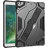 DMG iPad 2017 Case, Military Grade Shockproof Impact Resistant Kickstand Back Cover for Apple iPad 2017 New iPad (Grey)