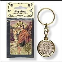 St SAINT CHRISTOPHER - Portachiavi in metallo