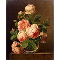 Dael Jan Frans Van Still Life Of Roses In A Glass Vase A4 10x8 Photo Print Poster