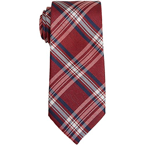Nautica Men's Piirissaar Plaid Neck Tie Red (Plaid Nautica)