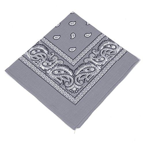Pañuelo Bandana con original estampado de Paisley en más de 50 colores y diseño | 100% algodón | negro, blanco, rojo, azul,