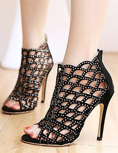 UWSZZ Die Sandalen elegante Comfort Schuhe Frau - Sandalen - lässig - Keile/Open - mit einem mandrin - Kunstleder - Schwarz Black